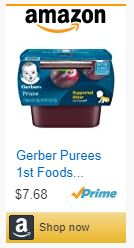 gerber purees first food baby constipation remedies